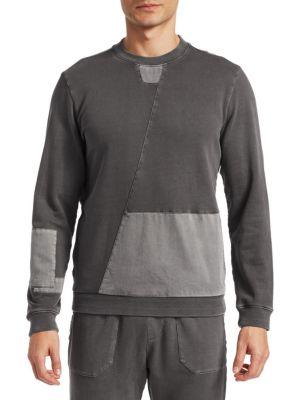 MADISON SUPPLY Mixed Media Crewneck Sweatshirt