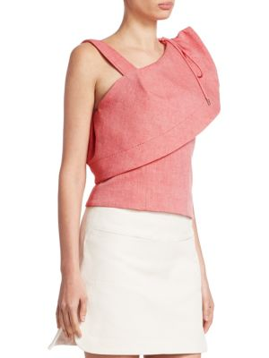 Red Gathered Shoulder Blouse Carven Low Cost Cheap Online Sale Manchester Great Sale 0NoUs
