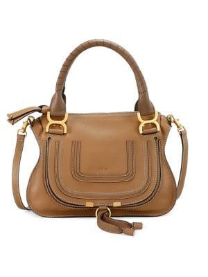Small Marcie Leather Satchel