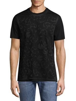 Laser Cut Lined T-Shirt
