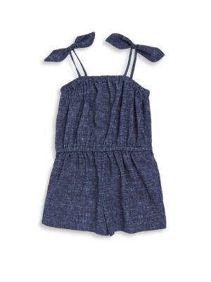 Toddler's, Little Girl's & Girl's Tie Romper