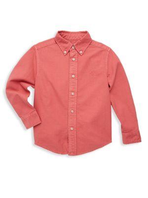 Toddler's, Little Boy's & Boy's Cotton Button-Front Shirt