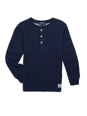 Toddler's, Little Boy's & Boy's Long Sleeve Henley Sweater
