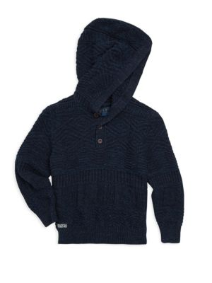 Toddler's & Little Boy's Button Hoodie