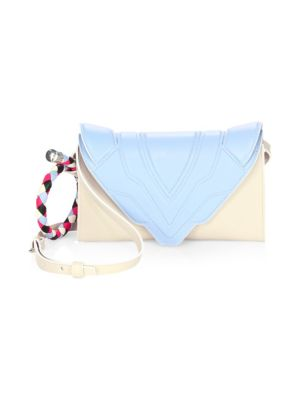 Bicolor Leather Clutch