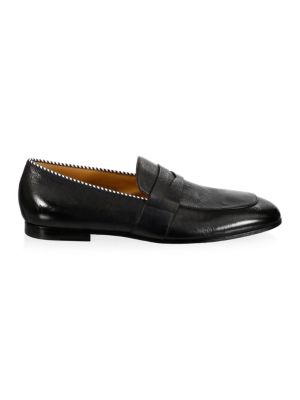 HUGO BOSSSafari Grainy Leather Loafers y8JHtQFe
