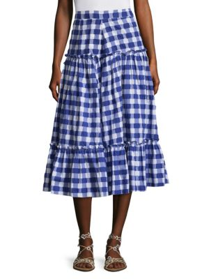 Gingham Plaid Skirt