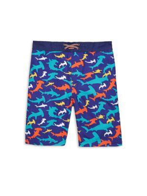 Toddler's, Little Boy's & Boy's Sharks Swim Trunks