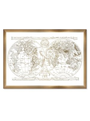 Gold Hemispheres Framed Print