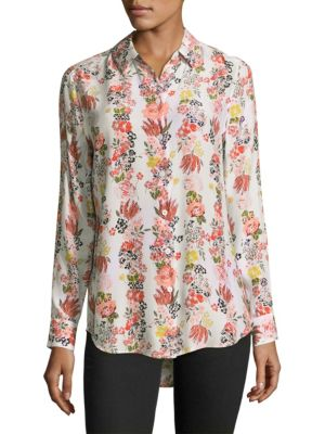 Essential Floral Silk Blouse
