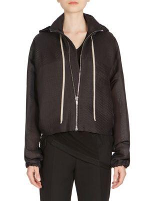 Cropped Wind Breaker Jacket in Black