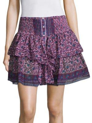 Honey Floral Mini Skirt