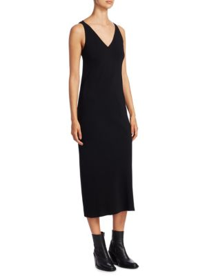 V-Neck Pocket Dress