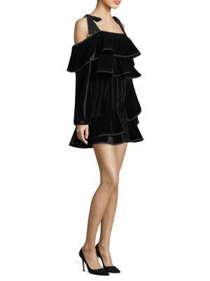 Tasha Velvet Ruffle Dress