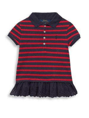Toddler's Striped Polo Top