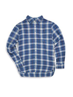 Girl's Plaid Shirt