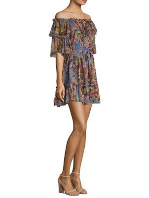Lovelorn Silk Frill Mini Dress