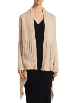 Open-Front Heavy Knit Cardigan