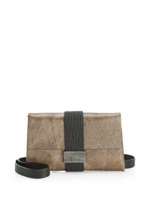 Shiny Leather Crossbody Bag