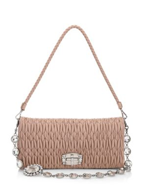 Crystal Strap Matlasse Bag