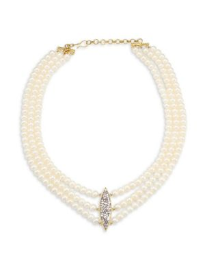 Holiday 7MM Round White Freshwater Pearl Necklace