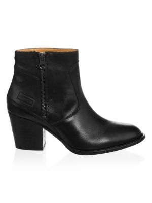 Refined Leather Ankle Booties