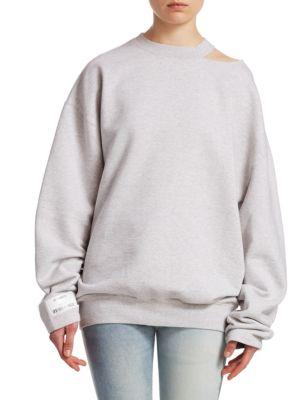 VETEMENTS Open Shoulder Sweatshirt