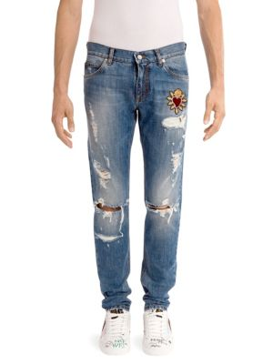 Distressed Heart Jeans
