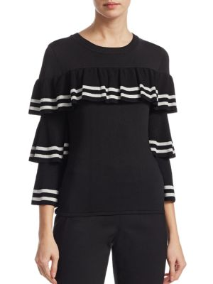 SCRIPTED Ruffle Tier Sweater