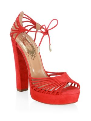 Josephine Plateau Suede Platform Sandals