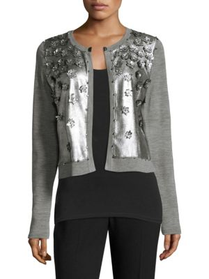 Alena Flower Applique Cardigan