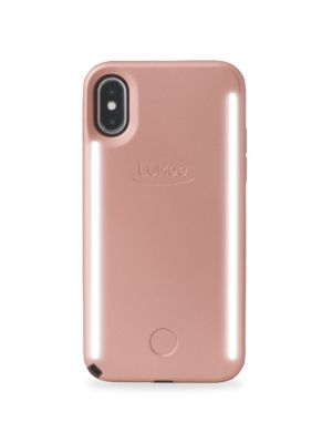 LUMEE Duo LED Lighting Rose Gold iPhone X Case