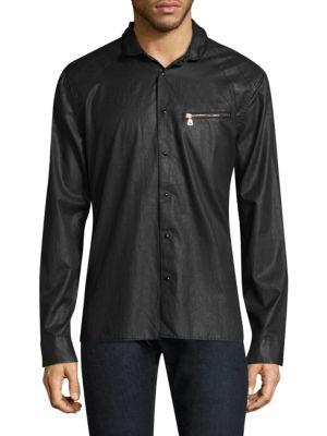 Slim-Fit Long Sleeve Button-Down Shirt