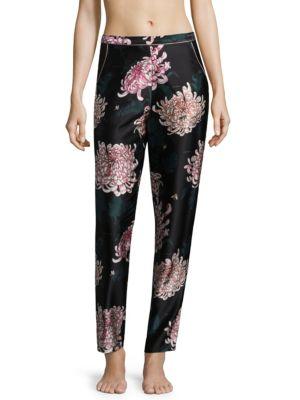 Printed Silk Pajama Pants