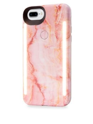 LUMEE Duo LED Lighting Pink Quartz iPhone iPhone 6 Plus, 7 Plus, 8 Plus Case