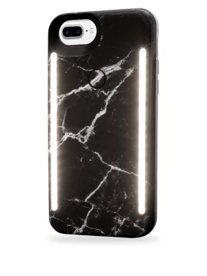 LUMEE Duo LED Lighting Black Marble iPhone iPhone 6 Plus, 7 Plus, 8 Plus Case