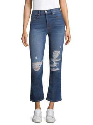 Brix High-Rise Cropped Boot Distressed Jeans