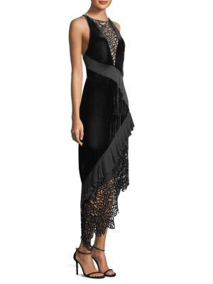 Julianne Velvet Lace Dress