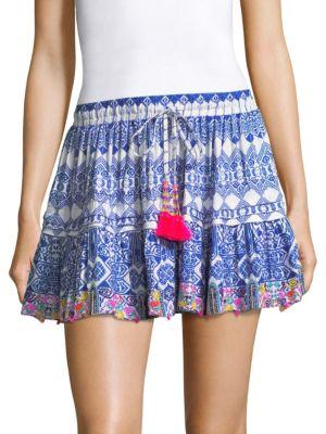 Beaded Tassel Mini Skirt