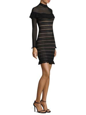 Maribella Mesh Ruffle Dress