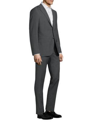 Alton Microcheck Wool Suit