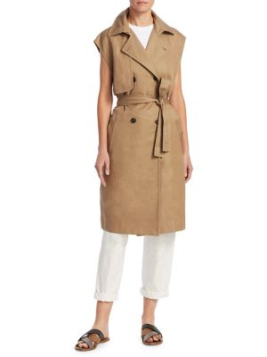 Mid-Length Trench Vest