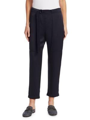 Silk Utility Pocket Pants