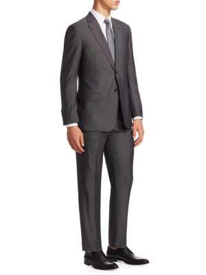 Wool & Silk Pindot G Line Suit