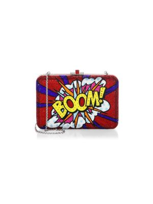 Boom Crystal Slim Clutch