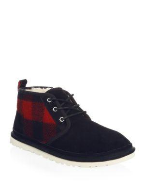 Neumel Plaid Ankle Boots