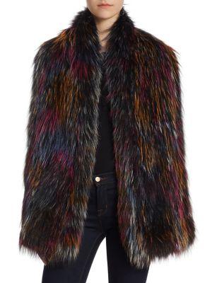 THE FUR SALON Knit Fox Fur Scarf