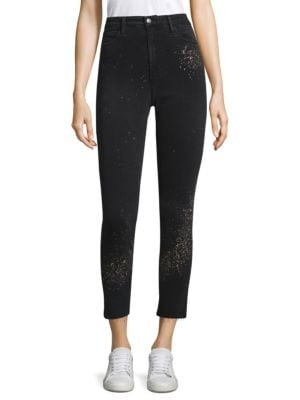 Paint Splatter Ankle Jeans