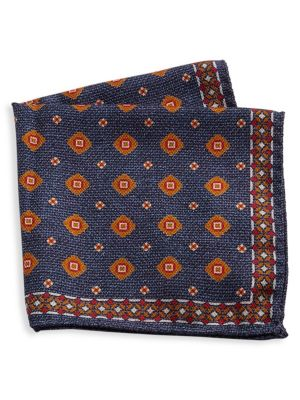 COLLECTION Silk Medallion & Paisley Pocket Square