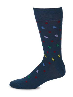 Rabbit Print Socks